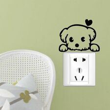Cute Puppy Dog Switch Sticker Removable Mural Wall Art Stickers Home Decoration