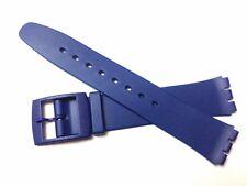 Sostituzione 17mm (20mm) Orologio Cinturino per SWATCH SKIN-Blu Resina Ultra Sottile
