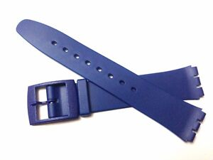 Plastic Resin SWATCH SKIN Replacement Watch Strap -16mm - Blue Resin Ultra Thin