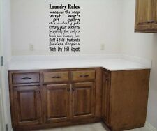 LAUNDRY ROOM COLLAGE SIGN WALL ART DECAL VINYL WORDS STICKER ROOM WASH LETTERING