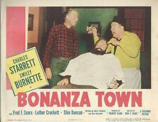 Bonanza Town, 1951 Smiley Burnette, Lobby Card