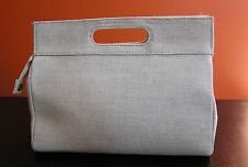 The BODY Shop PURSE Clutch Cosmetic Bag Beige NEW