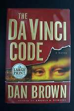 Dan Brown The Da Vinci Code - First Large Print Edition Hardcover