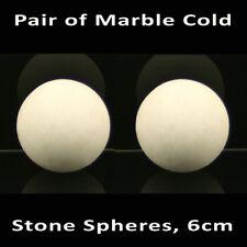 Caliente Masaje de piedra: par de piedra de mármol frío massagemaster Esferas Bolas De/- 6cm