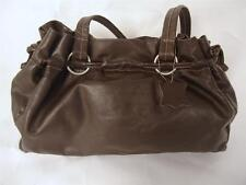 MIA BROWN LEATHER BAG DRAWSTRING SHOULDER BAG TOTE