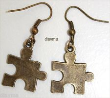 Earrings jewellery - the missing peice jigsaw game puzzle - autism aspergers