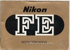 Nikon FE 35mm Camera Instructions, Lots More User Manuals & Guide Books Listed