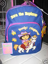 Dora The Explorer Backpack School bag rolling Large Free organizer pouch pencil