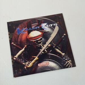 "Nintendo KILLER INSTINCT SOUNDTRACK ""Killer Cuts"" CD 1995 RARE"