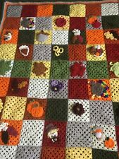 Handcrafted Crocheted Fall Afghan