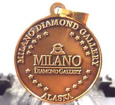 "NEW 1 1/4"" PENDANT OF MILANO DIAMOND GALLERY IN SKAGWAY,ALASKA COIN (70917)1"