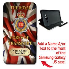 Personalised Royal Corps Of Transport Army Samsung Galaxy J5 Wallet Phone Case