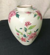 "Vintage Lenox Barrington Collection Vase - Pink Flowers Fine Porcelain 6.5"" Tall"
