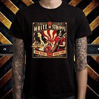The White Stripes Concert Tour Men's Black T-Shirt Size S to 3XL
