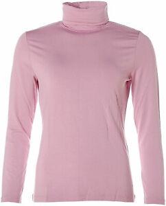 Jette Damen Basic Langarm Shirt Rollkragen 40 mauve rose X4393