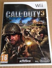 CALL OF DUTY 3 WII NINTENDO GAME -JUEGO CALL OF DUTY 3 NINTENDO WII -PAL