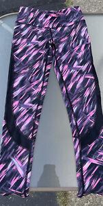 Womens Victorias Secret Sport VSX full length legging pants pink black Small
