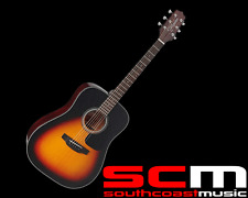 Takamine D2DBSB Dreadnought Acoustic Guitar Brown Sunburst Finish