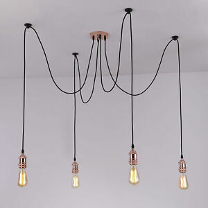 Modern Retro Industrial Vintage Spider Pendant Edison Ceiling Light Lamp Cluster