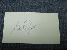 Ed Lopat Autographed Index Card 2