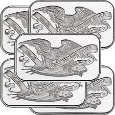 Retro SilverTowne Eagle and Shield 1oz .999 Silver Bar (5pc)