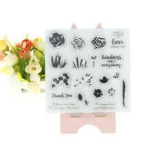 flower transparent clear silicone stamp/seal for scrapbook/photo album decorSR