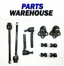 8 Pc Kit Ball Joints Tie Rods Sway Bar For Chevy Cavalier Sunfire 1 Yr Warranty