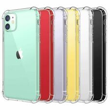 Shockproof Tough Gel Clear Case Cover for Apple iPhone 11 Pro Max 7 8 Plus X 12