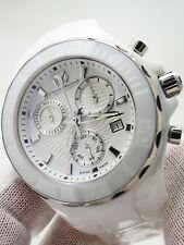 Technomarine Womens Cruise White Ceramic Chronograph Quartz Watch $1,650
