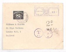 AN69 1946 usa new jersey harrison à gb london housse. frais de port en raison