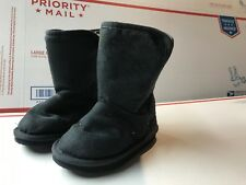 Old Navy Toddler Girls Size 7 Blue Gray with cut outs gold Booties Boots Shoes
