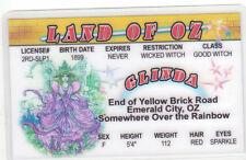 Glinda the Good Witch Land of Oz novelty card Drivers License Wizard w w denslow