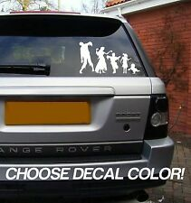 "Zombie Family 9"" Vinyl Sticker Decal - Choose Color! car window stick figure van"