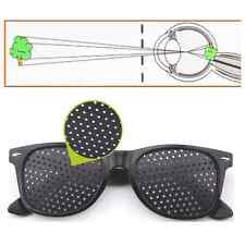 Hot Black Eyesight Improver Anti-fatigue Vision Care Stenopeic Pinhole Glasses x