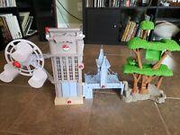 2011 Pokemon Unova Region Playset Tower, Bridge, Ferris Wheel & Tree No Figures!