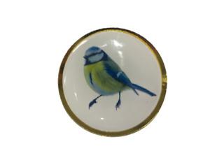 Blue Tit Lapel Pin Badge 25mm 10% Donation to RSPB UK NEW