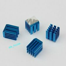 10pcs Blue 9mm 9x9x12mm Aluminum Adhesive IC Chipset Cooling Heatsinks
