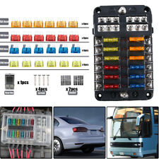 Quality 12 Way Blade Fuse Box Block Holder Led Indicator 32V 100A Auto Marine Us