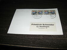 Germany French Zone Plain Post Card With 4 Stamps Lot #30
