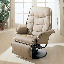 Coaster Furniture Leatherette Swivel Recliner Chair in Bone Finish & Coaster Contemporary Swivel Chair Chairs | eBay islam-shia.org