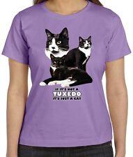 Tuxedo Cat Shirt - Not Tuxedo -  Just A Cat - Sm - 5X - Feline - Black & White