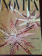 Rivista Magazine - Novità - Dicembre 1955  n.62  Arredamento Moda Lidia Tabacchi