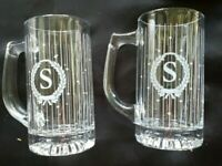 2 VINTAGE AVON*THE GIFT COLLECTION*PERSONALLY YOURS BEVERAGE MUGS*LETTER S*