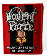 VIOLENT FORCE    [ malevolent assault of tomorrow ]      WOVEN PATCH