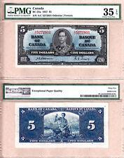 1937 $5 KGVI Bank of Canada; Scarcer OSBORNE & Towers BC-23a.  PMG CH VF35 EPQ