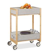 Rollwagen Bambus Faltkorb Küchenwagen Teewagen Küchenregal Korbwagen Badwagen