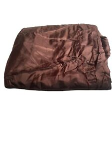 brown rayon silk like material over 7 yards fabric sewing crafting Dressmaker