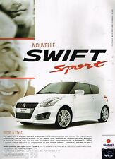 Publicité advertising 2012 Nouvelle Swift Sport Suzuki