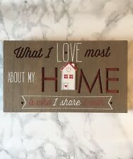 Wooden Home Picture Sign New House Modern Home Decor