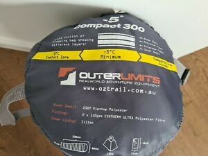 Outerlimits Oz Trail Light Weight Sleeping  Bag -5  Degrees Celsius